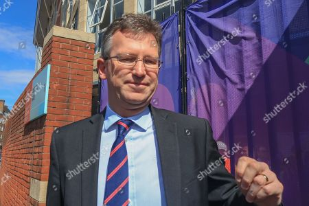 Jeremy Wright, Culture Media and Sport Secretary arrives at the Oval cricket ground for the opening match