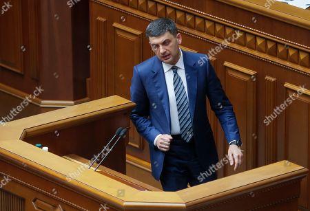 Editorial image of Ukrainian parliament rejects Prime Minister Groysman's resignation, Kiev, Ukraine - 30 May 2019