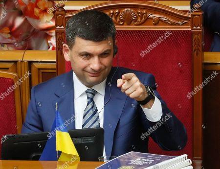 Editorial photo of Ukrainian parliament rejects Prime Minister Groysman's resignation, Kiev, Ukraine - 30 May 2019