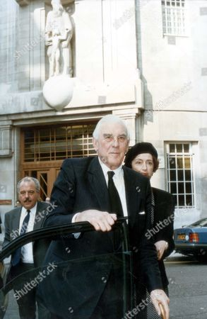 Editorial image of Marmaduke Hussey 1993 Former Bbc Director-general Sir Michael Checkland Is Expected To Intervene Tonight In The John Birt Affair. It Is Understood He Plans To Speak About His Successor's Income Tax At A Farewell Dinner Being Held In His Honour Tonig