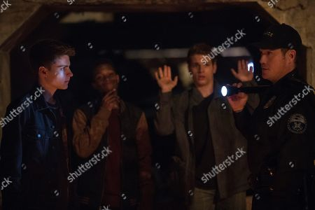Corey Fogelmanis as Andy, Dante Brown as Darrell, Gianni Paolo as Chaz and Tate Taylor as Officer Grainger