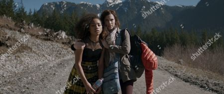 Logan Browning as Lizzie and Allison Williams as Charlotte
