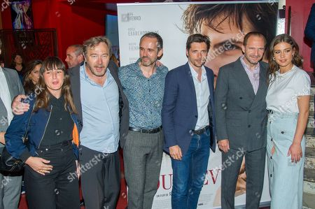Juliette Armanet, Olivier Rabourdin, Yves Heck, Raphael Personnaz, Adele Exarchopoulos and Ralph Fiennes