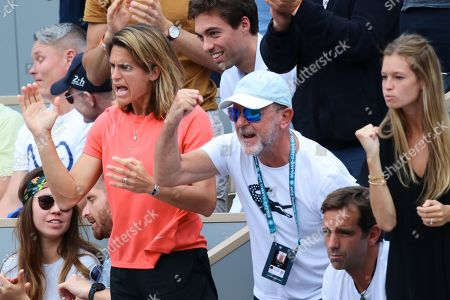Amelie Mauresmo, Loic Courteau and Clemence Bertrand
