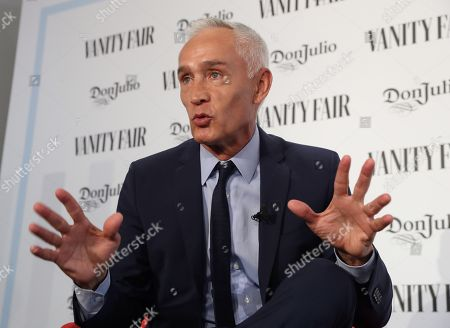 Mexican journalist Jorge Ramos speaks during the event in which he was awarded the International Journalist Award 2019 Vanity Fair in Madrid, Spain, 30 May 2019.