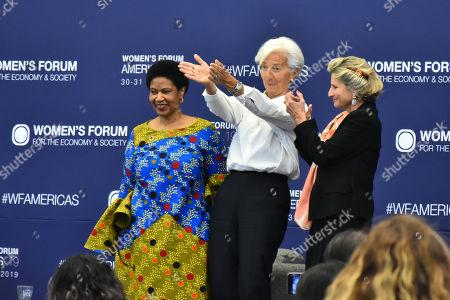 Phumzile Mlambo-Ngcuka, Christine Lagarde and Chiara Corazza CEO Women's Forum for the Economy and Society