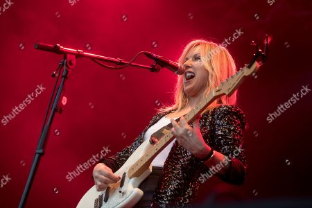 Liz Phair performs on stage during her concert in the framework of the second day of the Primavera Sound music festival in Barcelona, Catalonia, north eastern Spain, 31 May 2019, an event running from 30 May until 01 June.