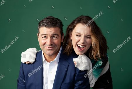 """Stock Photo of Kyle Chandler, Millie Bobby Brown. Kyle Chandler, left, and Millie Bobby Brown pose for a portrait in promotion of their new film """"Godzilla: King of the Monsters"""" at the London Hotel in West Hollywood, Calif"""