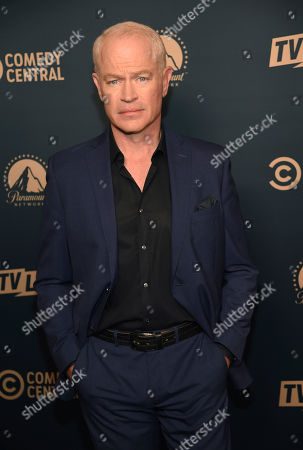 """Stock Picture of Neal McDonough, a cast member in the Paramount Network television series """"Yellowstone,"""" poses at the Paramount Network, Comedy Central, TV Land Press Day 2019 at the London West Hollywood, in West Hollywood, Calif"""