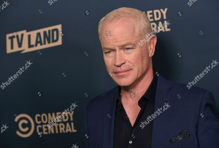 """Neal McDonough, a cast member in the Paramount Network television series """"Yellowstone,"""" poses at the Paramount Network, Comedy Central, TV Land Press Day 2019 at the London West Hollywood, in West Hollywood, Calif"""
