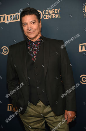 "Gil Birmingham, a cast member in the Paramount Network television series ""Yellowstone,"" poses at the Paramount Network, Comedy Central, TV Land Press Day 2019 at the London West Hollywood, in West Hollywood, Calif"