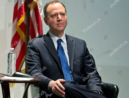 """Rep. Adam Schiff listens to public questions on impeachment at a conversation session with Los Angeles City Attorney Mike Feuer, titled """"A Constitutional Clash: A Separation of Powers In A Tumultuous Time,"""" at Los Angeles Police Headquarters . House Speaker Nancy Pelosi still isn't ready to impeach President Donald Trump. Rep. Adam Schiff, chairman of the House intelligence committee, said Thursday in California he's not urging impeachment yet, """"though the president seems to be doing everything in his power to get me there."""" Schiff warned that impeachment is not a """"cure all."""" He said, """"Impeachment doesn't remove this president. There is only one way to remove this president, and that's by voting him out of office"""