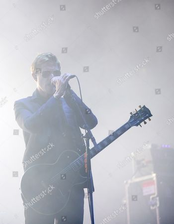 US band 'Interpool' singer Paul Banks performs on stage during her concert at the Primavera Sound music festival in Barcelona, Catalonia, north eastern Spain, 30 May 2019, an event running from 30 May until 01 June.