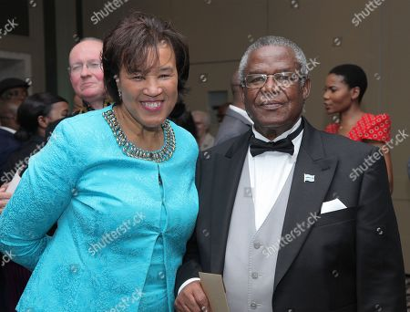 His Excellency Rev. Dr John GN Seakgosing, High Commissioner for Botswana with Baroness Patricia Scotland of Asthal, the Commonwealth Secretary-General