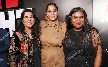 Nisha Ganatra, Tracee Ellis Ross and Mindy Kaling