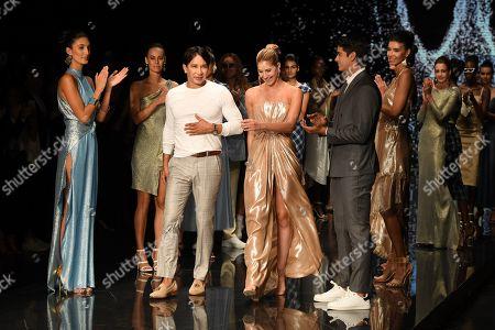 Stock Photo of Rene Ruiz on the catwalk