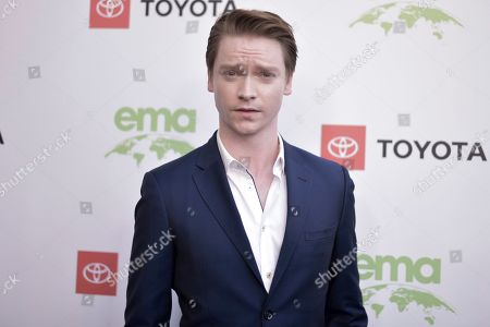 Calum Worthy attends the 2019 Environmental Media Awards at the Montage Hotel, in Beverly Hills, Calif