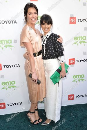 Katie Aselton, Constance Zimmer. Katie Aselton, left, and Constance Zimmer attend the 2019 Environmental Media Awards at the Montage Hotel, in Beverly Hills, Calif