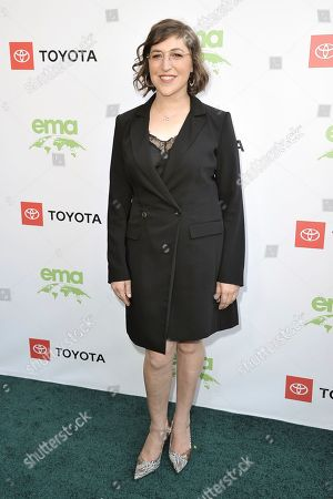 Mayim Bialik attends the 2019 Environmental Media Awards at the Montage Hotel, in Beverly Hills, Calif