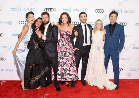 Grace Park, Christina Moses, James Roday, Christina Ochoa, David Giuntoli, Allison Miller, Ron Livingston. Grace Park, from left, Christina Moses, James Roday, Christina Ochoa, David Giuntoli, Allison Miller and Ron Livingston arrive at the 12th Annual Television Academy Honors, at the Beverly Wilshire Hotel in Los Angeles
