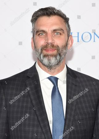 """Stock Image of James Griffiths, Director/Executive Producer from """"A Million Little Things"""", arrives at the 12th Annual Television Academy Honors, at the Beverly Wilshire Hotel in Los Angeles"""