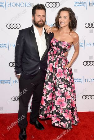 James Roday, Christina Ochoa. James Roday, left, and Christina Ochoa arrive at the 12th Annual Television Academy Honors, at the Beverly Wilshire Hotel in Los Angeles