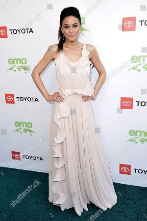 Emmanuelle Chriqui attends the 2019 Environmental Media Awards at the Montage Hotel, in Beverly Hills, Calif