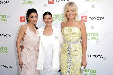 Emmanuelle Chriqui, Jamie-Lynn Sigler, Malin Akerman. Emmanuelle Chriqui, from left, Jamie-Lynn Sigler and Malin Akerman attend the 2019 Environmental Media Awards at the Montage Hotel, in Beverly Hills, Calif