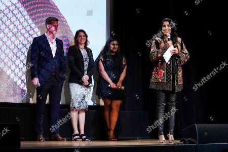 Matt Newman, Julie Rapaport, Mindy Kaling and Nisha Ganatra