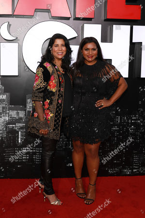 """Nisha Ganatra, Mindy Kaling. Nisha Ganatra, from left, and Mindy Kaling seen at LA Premiere of """"Late Night"""" at the Orpheum Theatre, in Los Angeles"""