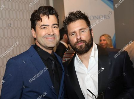 Ron Livingston, James Roday. Ron Livingston, left, and James Roday are seen at the 12th Annual Television Academy Honors, at the Beverly Wilshire Hotel in Los Angeles