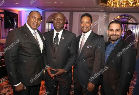 Stock Photo of Christopher O'Neal, Benjamin Crump, Cliff Jones, Farhoud Meybodi. Christopher O'Neal, from left, Benjamin Crump, Cliff Jones and Farhoud Meybodi are seen at the 12th Annual Television Academy Honors, at the Beverly Wilshire Hotel in Los Angeles