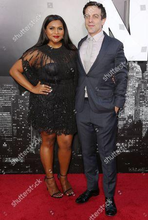 BJ Novak and Mindy Kaling