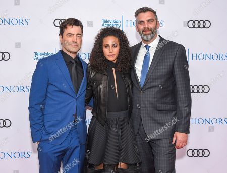 Ron Livingston, Christina Moses and James Griffiths