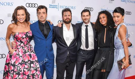 Christina Ochoa, Ron Livingston, James Roday, David Giuntoli, Christina Moses and Grace Park