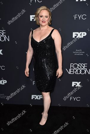 """Nicole Fosse, daughter of Bob Fosse and Gwen Verdon, arrives at the FYC Event for """"Fosse/Verdon"""" at Samuel Goldwyn Theater, in Beverly Hills, Calif"""