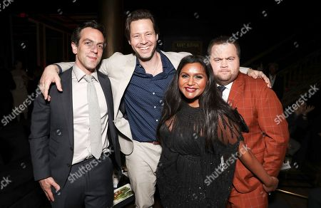 BJ Novak, Ike Barinholtz, Mindy Kaling and Paul Hauser attend the Amazon Studios Late Night Los Angeles After Party