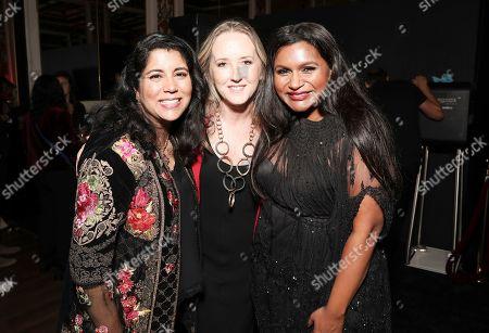 Nisha Ganatra, Jennifer Salke and Mindy Kaling attend the Amazon Studios Late Night Los Angeles After Party