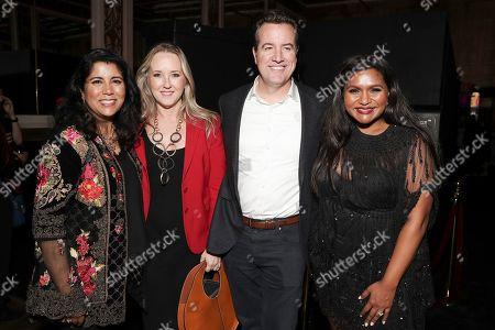 Nisha Ganatra, Jennifer Salke, Greg Hart and Mindy Kaling attend the Amazon Studios Late Night Los Angeles After Party