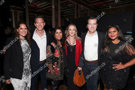 Julie Rapaport, Matt Newman, Nisha Ganatra, Jennifer Salke, Greg Hart and Mindy Kaling attend the Amazon Studios Late Night Los Angeles After Party