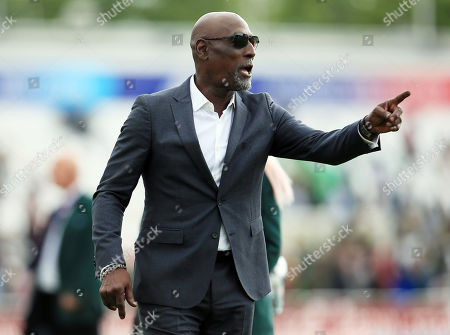 Sir Viv Richards attends the game