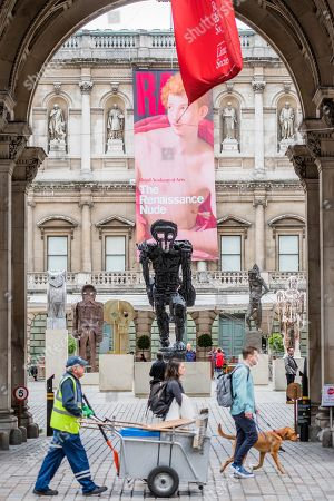 Editorial picture of Thomas Houseago installation at the Royal Academy of Arts, London, UK - 31 May 2019