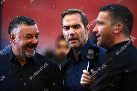 Former Liverpool player  John Aldridge and Jason McAteer