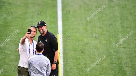 Editorial photo of Tottenham Hotspur v Liverpool, UEFA Champions League Final Training, Football, Wanda Metropolitano Stadium, Madrid, Spain - 31 May 2019