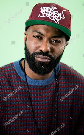 Daniel Baker, known professionally as Desus Nice, poses for a portrait in New York