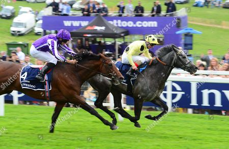 EPSOM. The Investec Coronation Cup. DEFOE and Andrea Atzeni beats KEW GARDENS (Ryan Moore) for trainer Roger Varian.