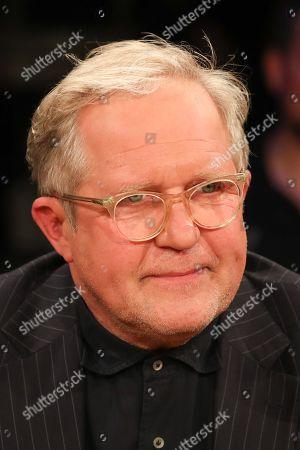 Harald Krassnitzer during the Radio Bremen talkshow 3nach9 (Three Past Nine) in Bremen, northern Germany, 29 May 2019. 3nach9 was first shown in 1974.