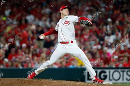 Cincinnati Reds relief pitcher Matt Bowman throws in the ninth inning of a baseball game against the Washington Nationals, in Cincinnati