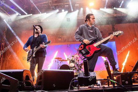 Patrick Stump, Pete Wentz. Patrick Stump, left, and Pete Wentz of Fall Out Boy perform at the Bunbury Music Festival, in Cincinnati