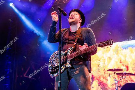 Stock Picture of Patrick Stump performs at the Bunbury Music Festival, in Cincinnati